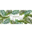 tropical leaves realistic background vector image vector image