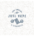 Vape shop seamless pattern and label vector image vector image