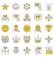 vip colored icons - modern concept symbols vector image