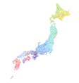 Japan map vector image