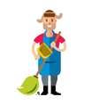 Janitor Flat style colorful Cartoon vector image