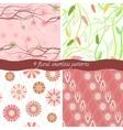 Set of 4 floral patterns vector image