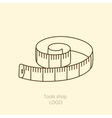 Tape of the tailor for you design isolated vector image