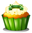 A cupcake for the celebration of St Patricks day vector image vector image