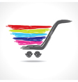 a paint shopping cart vector image