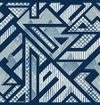abstract geometric pattern with grunge effect vector image vector image