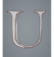 Abstract letter U vector image vector image