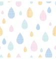 Abstract textile colorful rain drops seamless vector image vector image