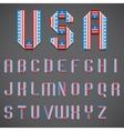 American Flag Folded Font vector image