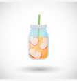 apple smoothie flat icon vector image vector image