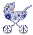 Baby carriage for boy 2 vector image vector image