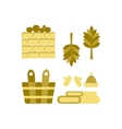 Bath and sauna Accessories vector image