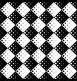 black and white geometrical diagonal square vector image vector image