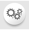 black cogs - gears on light background vector image vector image