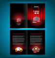booklet catalog brochure folder casino game vector image
