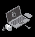 business data has been encrypted isometric vector image vector image