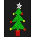 Chalk Board Tree vector image vector image