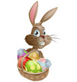 chocolate eggs easter bunny vector image vector image