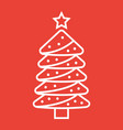 christmas tree line icon new year and christmas vector image vector image