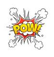 comic pow word vintage comics text vector image