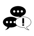 conversation bubbles icon image vector image vector image