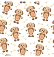 Cute cartoon puppy dog seamless texture Children vector image vector image