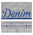 denim gashin tee graphic vector image vector image