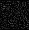 different simple arrows dark seamless pattern vector image