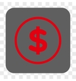 Dollar Rounded Square Button vector image vector image