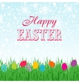 Easter background with copyspace in the sky vector image vector image