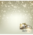 Elegant glowing Christmas background with place vector image vector image