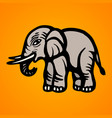 elephant flat image isolated object vector image vector image