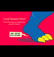 Error Page Monster vector image