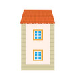 exterior of building with floor and window vector image vector image