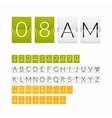 Flat countdown timer white paper style vector image