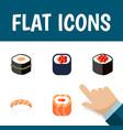 flat icon sushi set of sushi japanese food vector image
