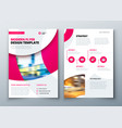flyer template layout design business flyer vector image vector image