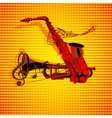 form of saxophone and trumpet uno vector image vector image