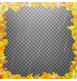frame composed of colorful autumn leaves eps 10 vector image vector image