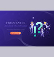 frequently asking questions banner template vector image vector image