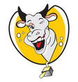 funny winking cow vector image