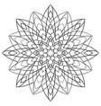 geometric abstract mandala vector image