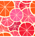 Grapefruit seamless background vector image vector image