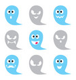 halloween ghost icons set - cute scary vector image