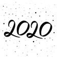 happy new year 2020 logo text design creative vector image