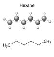 Hexane molecule vector image vector image