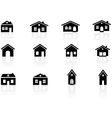 House and buildings icons vector | Price: 1 Credit (USD $1)