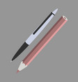 icon in flat design fashion pen and pencil vector image