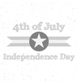 Independence Day 4th of July flat Background vector image vector image