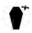isolated coffin vector image